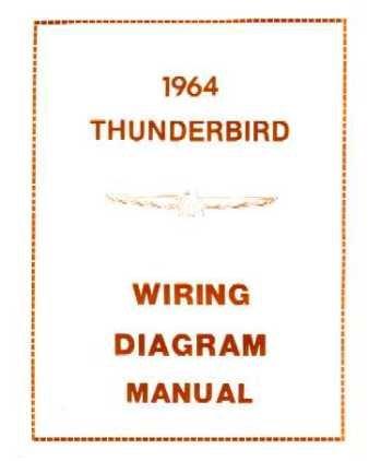 amazon com 1964 ford thunderbird wiring diagrams schematics automotive Ford F-250 Super Duty Wiring Diagram