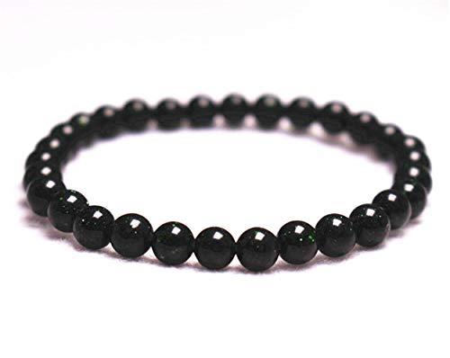- Wholesale Natural 6mm Green Goldstone Bracelet,Jewelry Bracelet,Gift Bracelet Wholesale.Gemstone Beaded Stretch Bracelet 6mm Round Beads 7.2