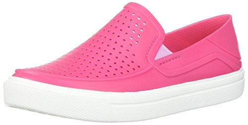 Crocs Kids' Citilane Roka Slip-On, paradise pink/white, 10 M US Little Kid