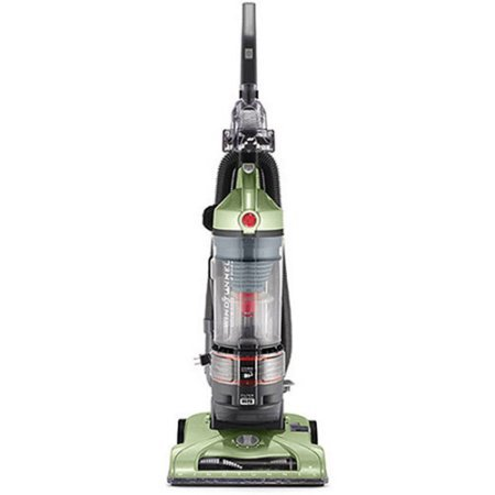 Hoover T-Series WindTunnel Rewind Bagless Upright Vacuum, UH70120 / Gently tap the pedal to activate the cord rewind feature, and watch the cord automatically retract