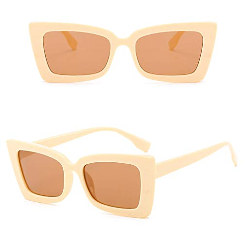 iYBUIA Adult Irregular Eye Sunglasses Retro Eyewear Radiation