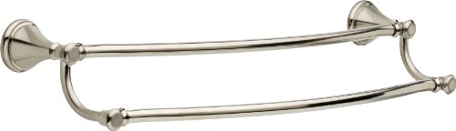 Delta Faucet 79725-SS Cassidy 24inch Double Towel Bar Rack, Brilliance Stainless Steel