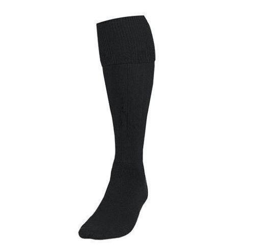 Black, Large Boys//Youth 3-6 New Football Socks Soccer Hockey Rugby Sports Socks PE Mens Womens