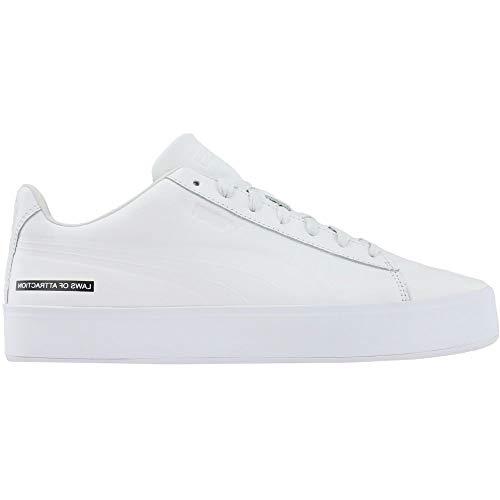 PUMA Mens Black Scale Court Platform Casual Sneakers,