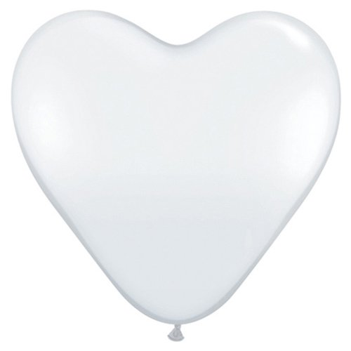 (Qualatex Latex Balloons 44522-Q Hearts - Diamond Clear, 36