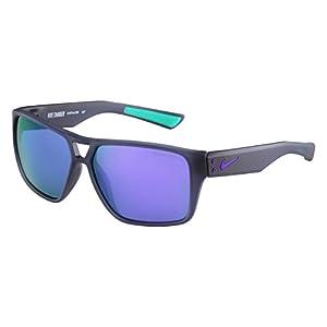 Nike EV0764-005 Charger R Sunglasses (One Size), Matte Crystal Dark Magnet Grey/Hyper Grape, Grey with Violet Flash Lens