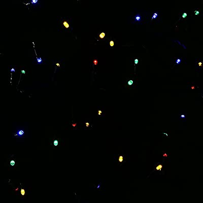 HOMDOX Solar String Lights 12M 100 Mini LED Strands for Garden, Path, Lawn, Yard, Christmas Trees, Party, Wedding Waterproof Lights up automatically & Flashing Solar Fairy Light String