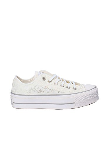 Blanco Mujer Clean Platform OX Converse Lift Ctas 561288C Zapatos 8RfqAf