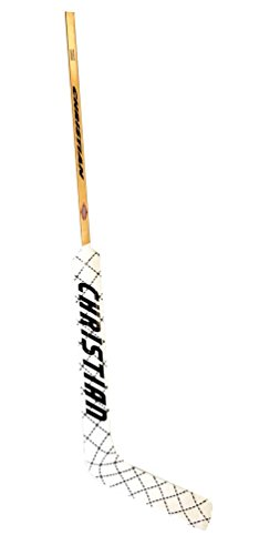 Stick Goalkeeper - Christian Senior Diamond Wrap Goalie Ice Hockey Stick. srdiamond-Left/White