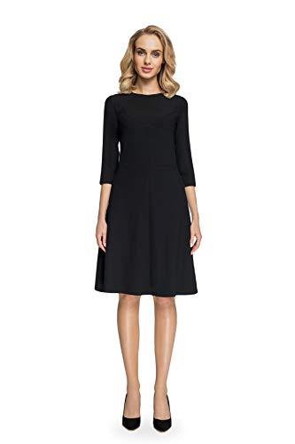 Trapezkleid Schwarz Kleid Linien A Clea Elegantes 5nRqTTxX