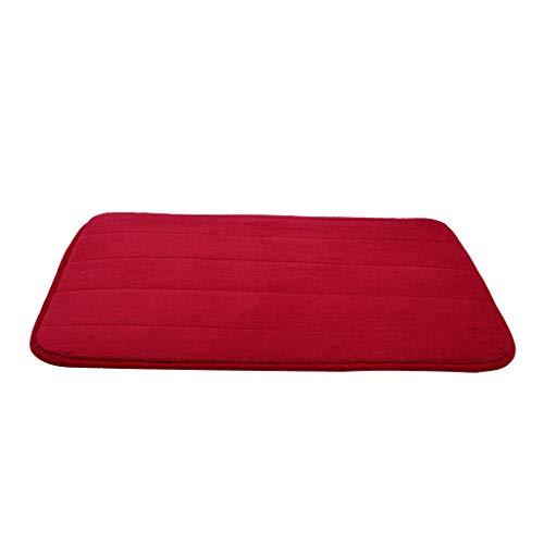 (Clearance Sale!DEESEE(TM)Absorbent Memory Foam Carpet Bath Bathroom Bedroom Floor Non-Slip Shower Mat Rug (B))