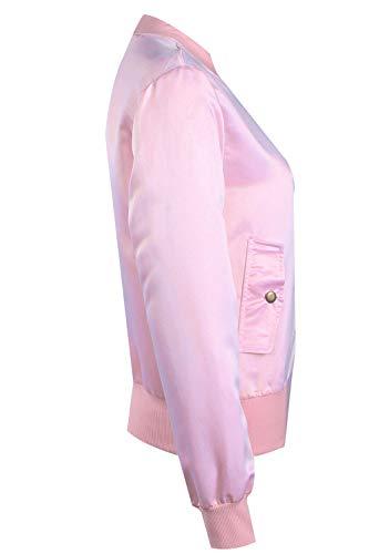 Giacche Una Rosa Manica Piena Autunno Solido Cappotto Lunga Donne Primavera Fasumava Cerniera Le Y7Xwvv