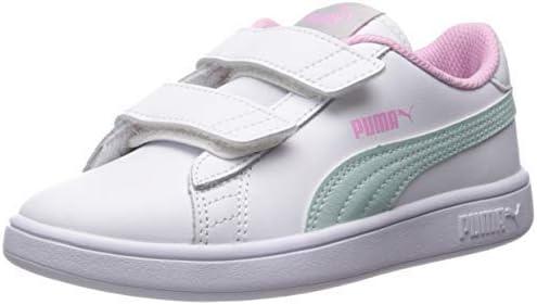 PUMA Girls' Smash V2 Velcro Sneaker