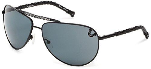 True Religion Sunglasses Jesse Aviator Sunglasses,Black,65 ()