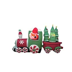 8 Foot Long Inflatable Santa Claus Driving Train on Candy...