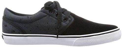 Fallen Mens The Easy Skateboard Shoe Black/Iron Splatter 0OP6rPioNn