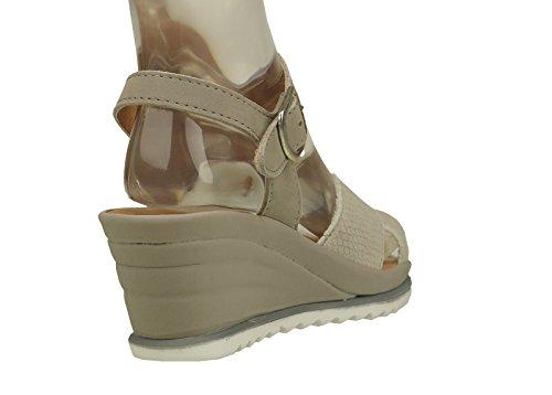 Comfortabel Damen-Sandale Beige 710827-8 schwarz
