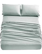 Home Beyond Bed Sheets Set - Bedding Sheet Set with Deep Pocket - Super Soft Brushed Microfiber - Winkle and Fade Resistant Easy Care