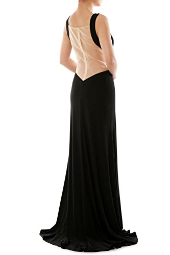 MACloth Women's Straps Scoop Neck Jersey Long Evening Gown Formal Party Dress Cielo azul
