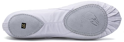 for Adults Shoes TM and Dancing Shoes Children Split Yoga Slipper Canvas White Practice Sole Ballet Cpdance wRxqHng6n