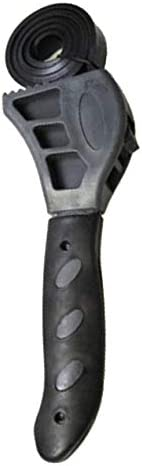 ユニバーサルレンチ調節可能な栓抜きゴムベルトレンチ缶栓抜きキッチンツール自動修復フィルターハンドツール-ブラック