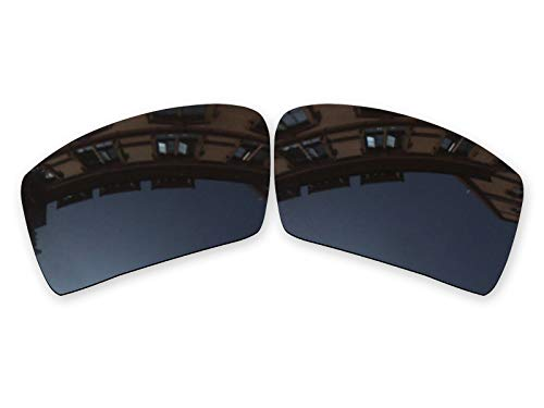 (Vonxyz Lenses Replacement for Oakley Oil Drum Sunglass - Stealth Black Polarized)