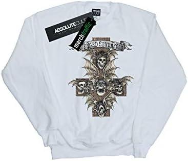 Absolute Cult Avenged Sevenfold Damen Hear See Speak Sweatshirt Weiß Medium