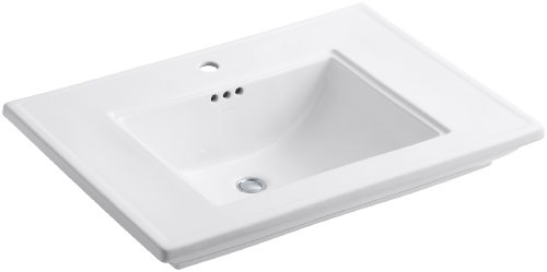 KOHLER K-2269-1-0 Memoirs Bathroom Sink with Stately Design and Single-Hole Faucet Drilling, White