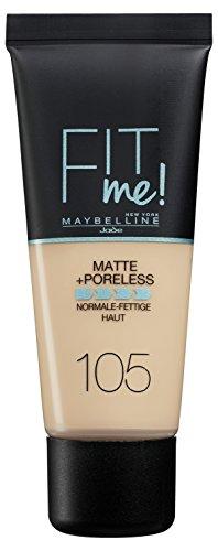 Maybelline New York Fit Me Matt und Poreless Make-up, natural ivory, 1er Pack (1 x 30 ml)