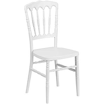 Amazon Com Flash Furniture Kids White Resin Chiavari