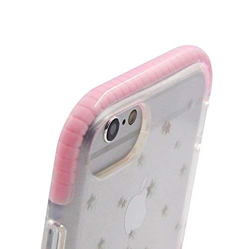 Cute Protective Girl Case for iPhone 6s 6 7 8 (Clear, with Glass Screen Protector) by LFX Tech