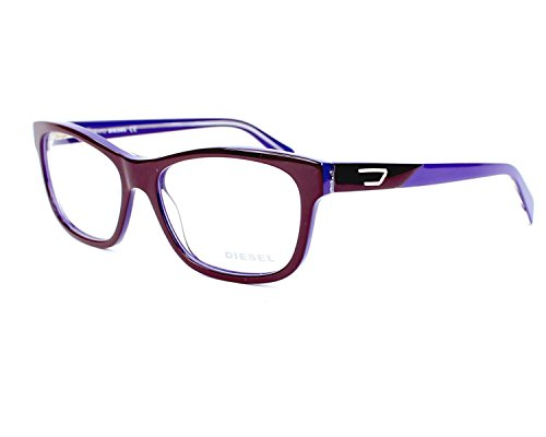 Diesel Rx Eyeglasses Frames DL5040 083 56-16-145 Bordeaux on Violet Purple