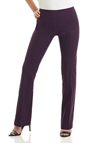 Rekucci Women's Ease in to Comfort Boot Cut Pant (12,Deep Plum) ()