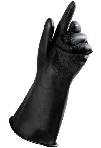 MAPA Butoflex 651 Butyl Multi-Layer Glove, Chemical Resistant, 0.025'' Thickness, 14'' Length, Size 9, Black