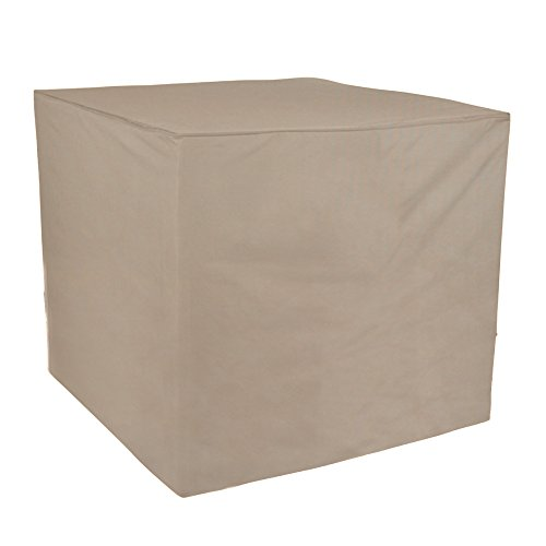Budge English Garden Square AC Cover P9A19PM1, Tan Tweed (34 W x 34 L x 30 H)