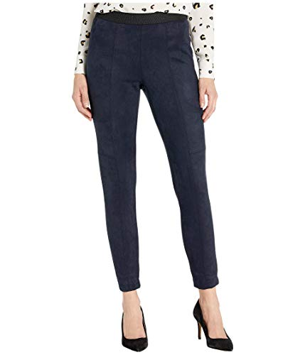 Jones New York Faux Suede Leggings with Elastic Waistband Ink 4