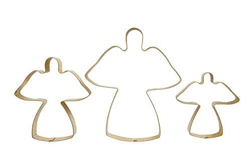 Heart of America 3 Assorted Styles Gold Finish Stainless Steel Cookie Cutters Angel - 18 Pieces