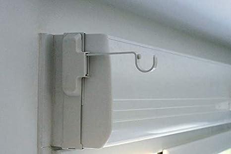 Soporte para barra para cortina, especial para caja de persiana, un par: Amazon.es: Hogar