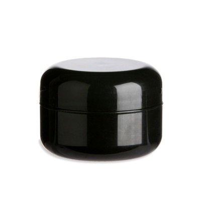 Nakpunar 40 Pcs, 1 2 Oz Black Double Wall Plastic Jars with Dome Lid