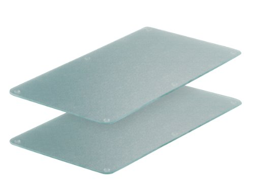 Zeller 26205 Herdabdeck-/Schneideplatten, 2-er Set, Glas