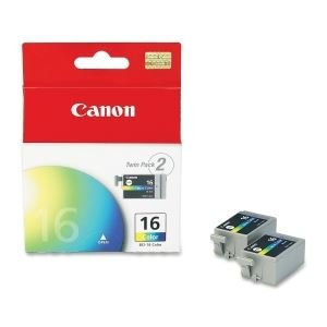 Canon Usa Bci-16 -color Ink Tank (cyan Magenta Yellow) - 75 Pages - 2 Tanks Per Pack. Fo