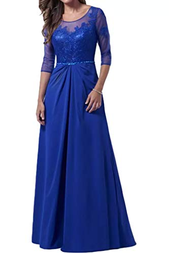 Royal Langarm Abiballkleider Lang Abendkleider 3 Blau Marie Rock Linie A La Partykleider 4 Braut 2016 wqC0xvt