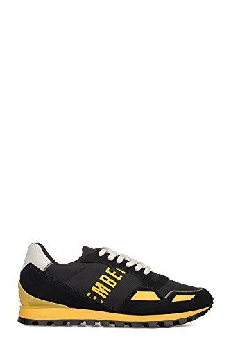 Bikkembergs Men's Bke108984 Yellow/Black Leather (Bikkembergs Men Shoes)