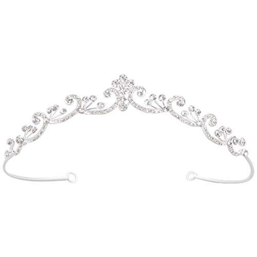 - Crystal Pave Filigree Petite Headpiece Style H937, Silver