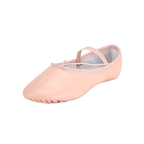 Scarpa Balletto In Donna Rosa Pelle Vera Da F7REwp