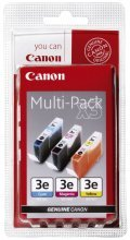 Canon BCI-3E Multipack - 3-pack - yellow, cyan, magenta - original - blister - ink tank - for BJ-S400, S520, BJC-400, 60