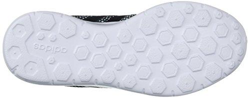 adidas Neo Women's Lite Racer W Sneaker, Black/Black/White, 8.5 B(M) US