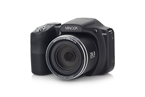 Minolta 20 Mega Pixels Wifi Digital Camera with 35x Optical Zoom & 1080p HD Video Optical with 3-Inch LCD, 4.8 x 3.4 x 3.2, Black (MN35Z-BK)
