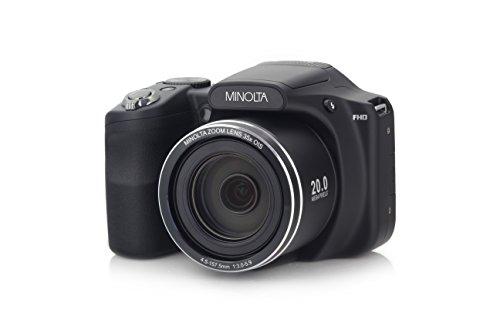 Minolta 20 Mega Pixels Wifi Digital Camera with 35x Optical Zoom & 1080p HD Video Optical with 3-Inch LCD, 4.8 x 3.4 x 3.2, Black (MN35Z-BK) by Minolta