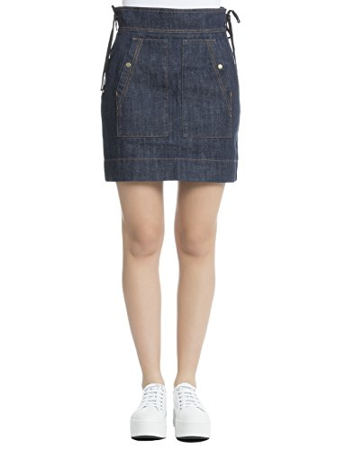 kenzo-womens-f751ju2366er77-blue-cotton-skirt